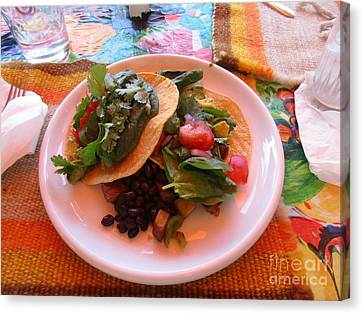 Canvas Print featuring the photograph Tostada Times Two by Marie Neder