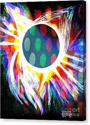 Sun Rays Canvas Print - Total Eclipse Digital by Genevieve Esson