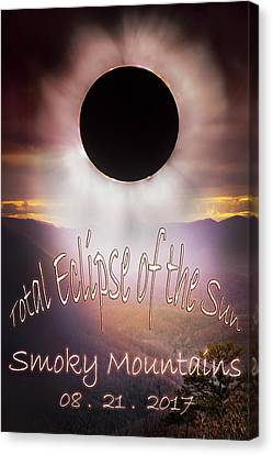 Park Scene Canvas Print - Total Eclipse Of The Sun Smoky Mountains by Debra and Dave Vanderlaan