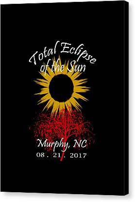 Totality Canvas Print - Total Eclipse T-shirt Art Murphy Nc by Debra and Dave Vanderlaan
