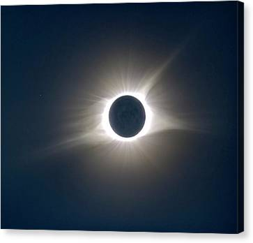 Total Solar Eclipse Hdr Canvas Print by Jonathan Sabin