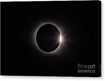 Totality Canvas Print - Total Solar Eclipse II by Clarence Holmes