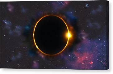 Total Solar Eclipse In Space Canvas Print