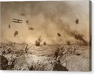Total Trench Warfare World War One  1918 Canvas Print by Daniel Hagerman