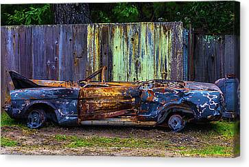 Totaled Classic Car Canvas Print by Garry Gay