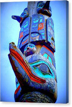 Totem 42 Canvas Print by Randall Weidner
