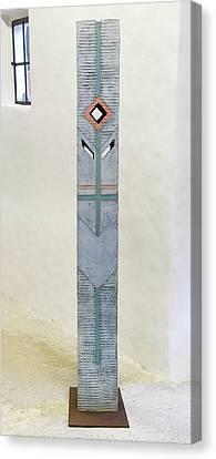 Totem Figure - Votiv Stele - Votive Stela - Ancestral Pole - Crusarder - Poste Antepassados  Canvas Print