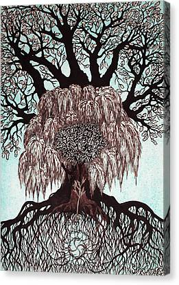 Totem Of The Family Trees Canvas Print