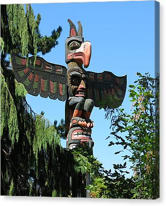 Totem Pole Canvas Print by Betty Buller Whitehead