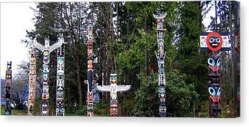 Totem Poles Canvas Print by Will Borden