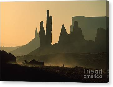 Totems At Sunrise Canvas Print