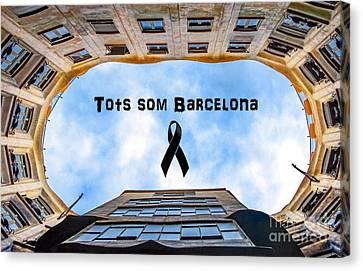 Independance Canvas Print - Tots Som Barcelona by Lulu Escudero
