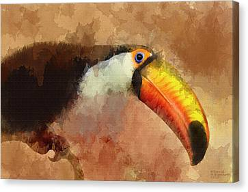 Toucan Large Canvas Art, Canvas Print, Large Art, Large Wall Decor, Home Decor, Wall Art Canvas Print by David Millenheft