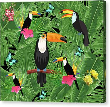 Toucan Tropic  Canvas Print