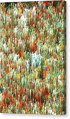 Touch Abstract Waldo Canvas Print by Alix Rumble