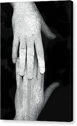 Touch Canvas Print by Johan Lilja
