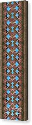 Touch Of Color - Brown And Blue Variation Canvas Print by Helena Tiainen