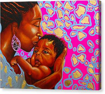 Touch Of Mother Love Canvas Print
