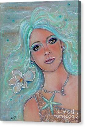 Touch Of Spring Mermaid Canvas Print by Renee Lavoie
