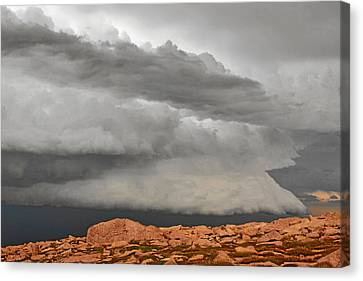 Touch The Clouds Canvas Print by Christine Till