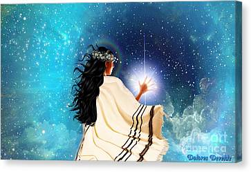 Touch The Light Canvas Print by Dolores Develde