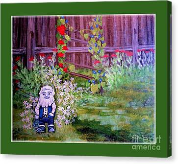 Touched By A Gnome In Grandma's Secret Garden Canvas Print by Kimberlee Baxter