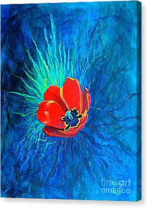 Touched By His Light Canvas Print