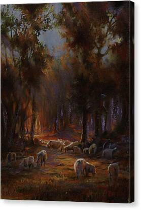 Art Of Mia Delode Canvas Print - Touched By Light by Mia DeLode