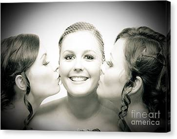 Touching Display Of Wedding Affection Canvas Print by Jorgo Photography - Wall Art Gallery