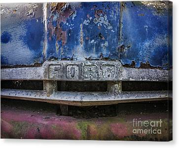 Painted Details Canvas Print - Tough As Ford by Terry Rowe