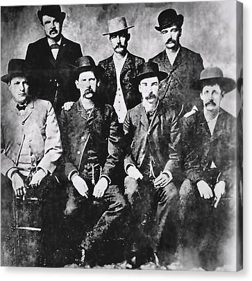 Tough Men Of The Old West Canvas Print by Daniel Hagerman