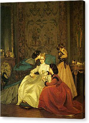 Toulmouche Auguste The Reluctant Bride Canvas Print by Auguste Toulmouche