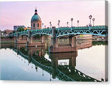 Canvas Print featuring the photograph Toulouse At Sunset by Elena Elisseeva