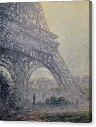 Paris , Tour De Eiffel  Canvas Print by Pierre Van Dijk