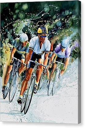Bicycle Race Canvas Print - Tour De Force by Hanne Lore Koehler