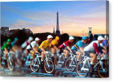 Tour De France Canvas Print by John Rivera