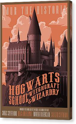 Tour Hogwarts Castle Canvas Print by Christopher Ables