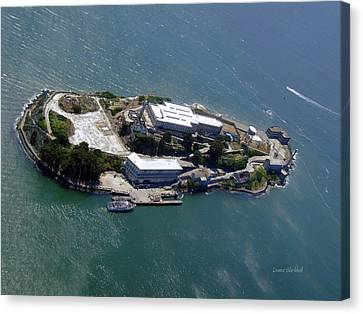Alcatraz Canvas Print - Tour Of Alcatraz by Donna Blackhall