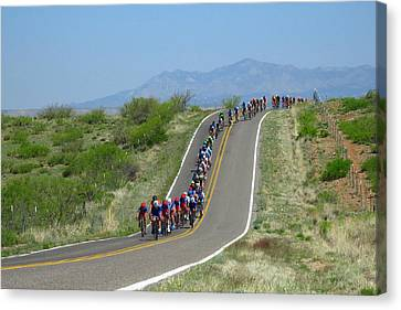 Tour Of The Gila 2017 Canvas Print by Feva Fotos