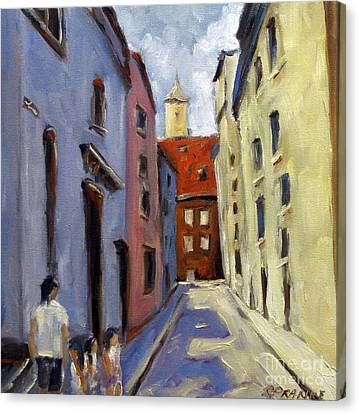 Tour Of The Old Town Canvas Print by Richard T Pranke