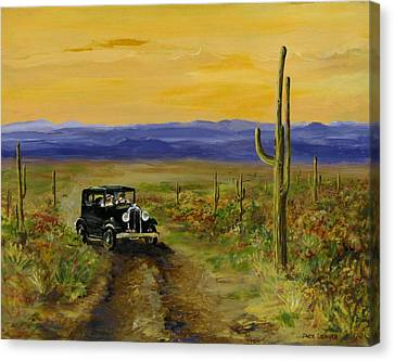 Canvas Print featuring the painting Touring Arizona by Jack Skinner