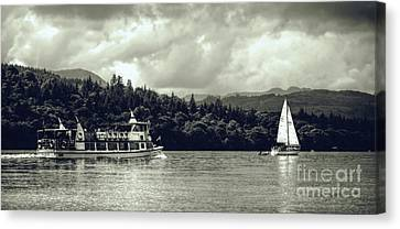 Touring The Lakes In Sepia Canvas Print