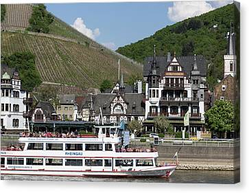 Tourism Along The Rhine Canvas Print