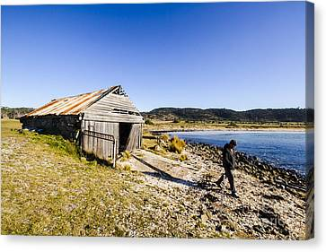 Tourist In East Coast Tasmania Canvas Print