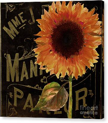 Tournesols Orange Sunflowers Canvas Print by Mindy Sommers
