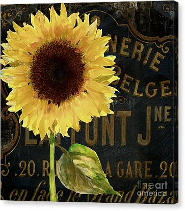 Tournesols Yellow Sunflowers Canvas Print by Mindy Sommers