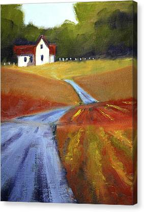 Canvas Print featuring the painting Toward Home by Nancy Merkle