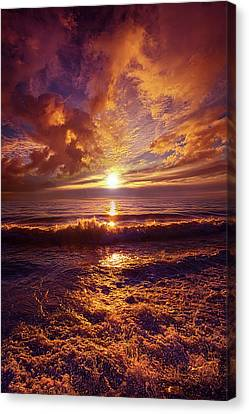 Canvas Print featuring the photograph Toward The Far Reaches by Phil Koch