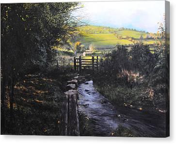 Towards Llanferres Canvas Print