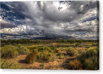 Towards Sandia Peak Canvas Print